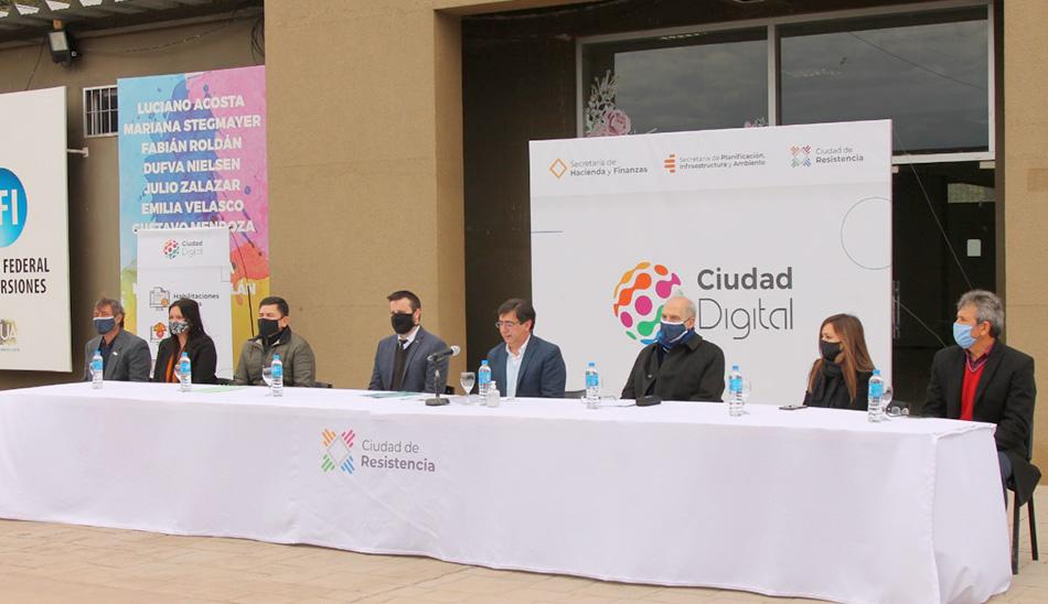 Lanzamiento de Ciudad Digital Junto al Intendente Gustavo Martínez