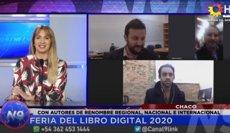 Nota de Canal N9 CHACO a Agustín Romero. Feria del Libro Digital 2020
