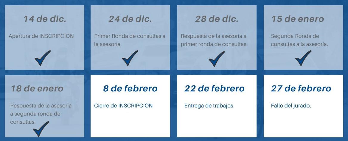 Extensión de plazos de inscripción del Concurso Nacional de Ideas